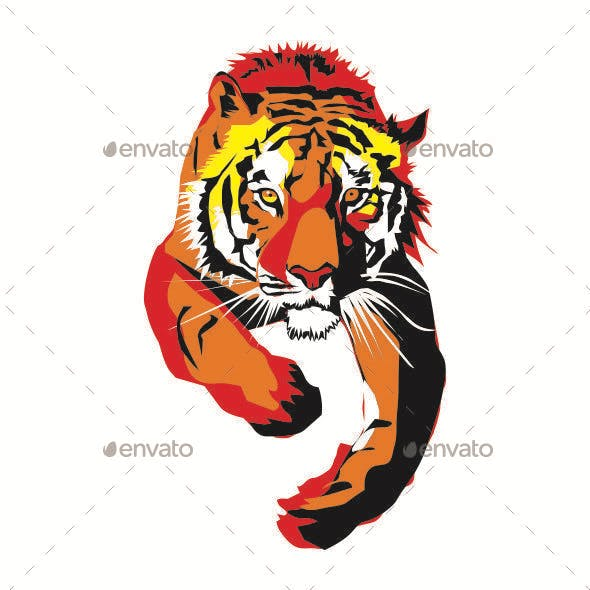 Clipart tiger design banner or bar image library Tiger Graphics, Designs & Templates from GraphicRiver image library
