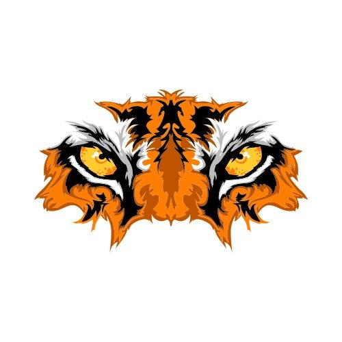 Clipart tiger design banner or bar clip freeuse library TIGER EYES Clip Art - Get Started At ThatShirt! clip freeuse library