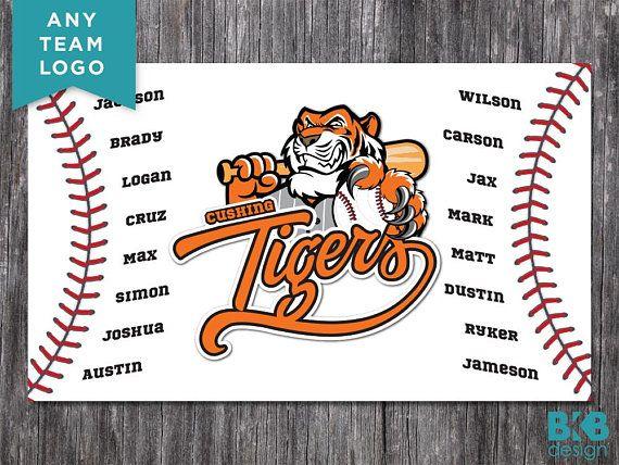 Clipart tiger design banner or bar jpg freeuse download Custom Vinyl Baseball Banner, Little League Banner, T-Ball Banner ... jpg freeuse download