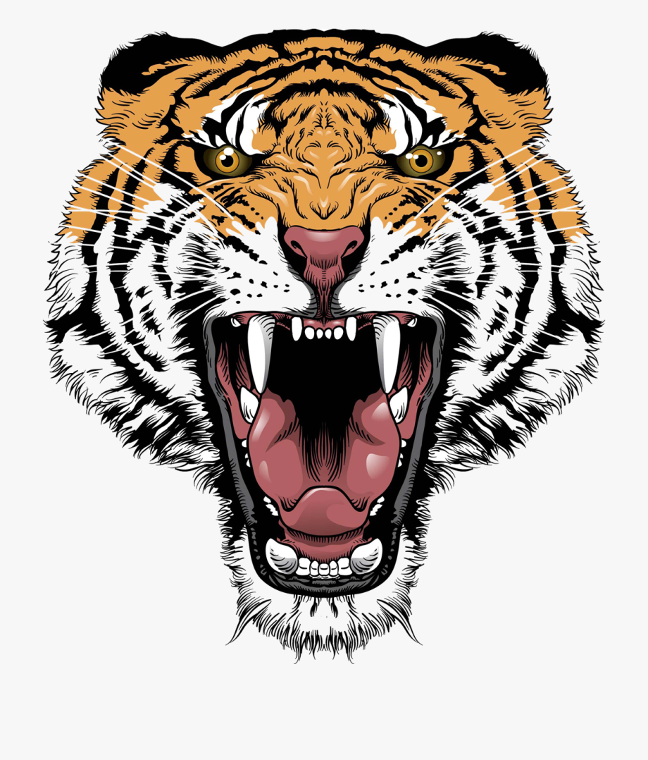 Clipart tiger design banner or bar black and white stock Tiger Tattoos Clipart Mother - Tiger Face Tattoo Design #981888 ... black and white stock