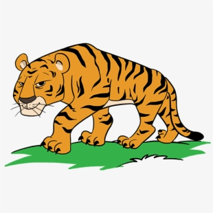 Clipart tiger design banner or bar png free Tigers Drawing Simple - Tiger Cartoon Images To Draw #981738 - Free ... png free