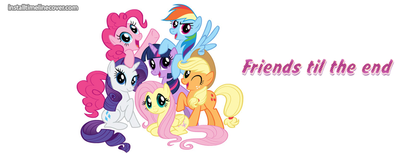 Clipart til facebook banner transparent download friends til the end ponies Facebook Cover, friends til the end ... banner transparent download