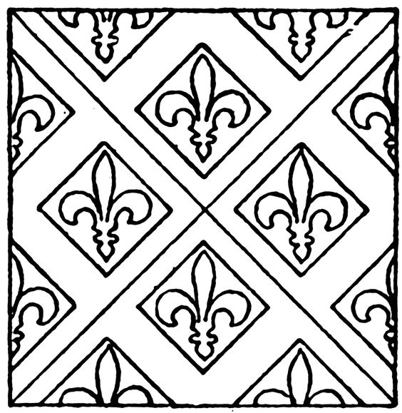 Clipart tile patterns. Medieval stained glass pattern