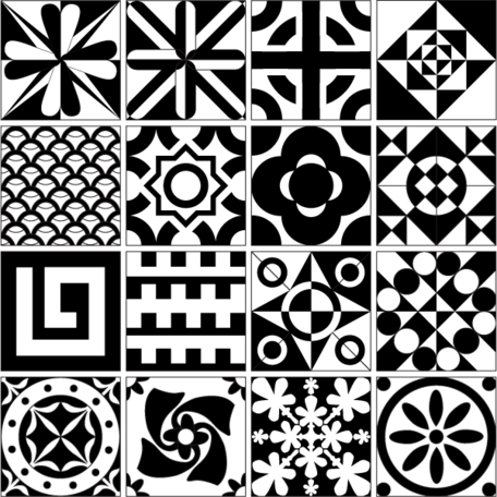 Design free vector resource. Clipart tile patterns