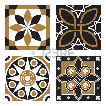 Clipart tile patterns vector free library 584,261 Tile Pattern Stock Vector Illustration And Royalty Free ... vector free library
