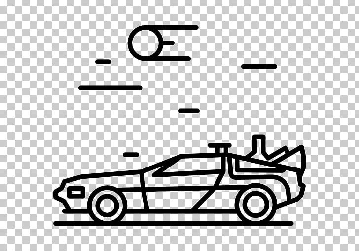Clipart time machine black and white free jpg freeuse download Back To The Future Computer Icons DeLorean Time Machine PNG, Clipart ... jpg freeuse download