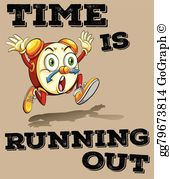 Clipart time running out vector library Time Is Running Out Clip Art - Royalty Free - GoGraph vector library