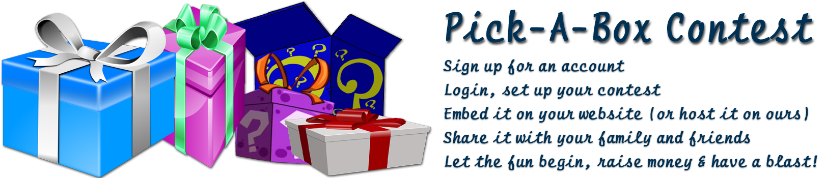 Clipart to show money raised picture free Welcome To Pick-A-Box Contest | Pick-A-Box picture free