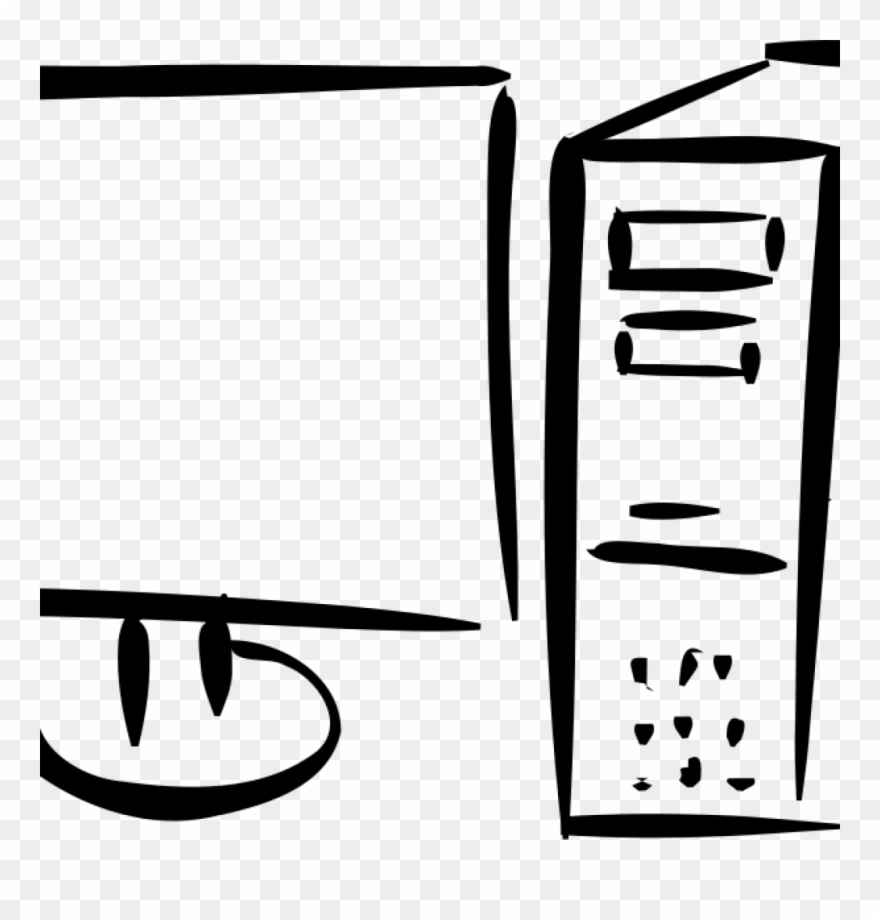 Clipart to use the computer black and white svg freeuse download Computer Clipart Black And White Computer Clip Art - Computer Clip ... svg freeuse download