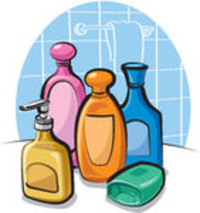 Tollitries clipart vector black and white Toiletries | Free Images at Clker.com - vector clip art online ... vector black and white