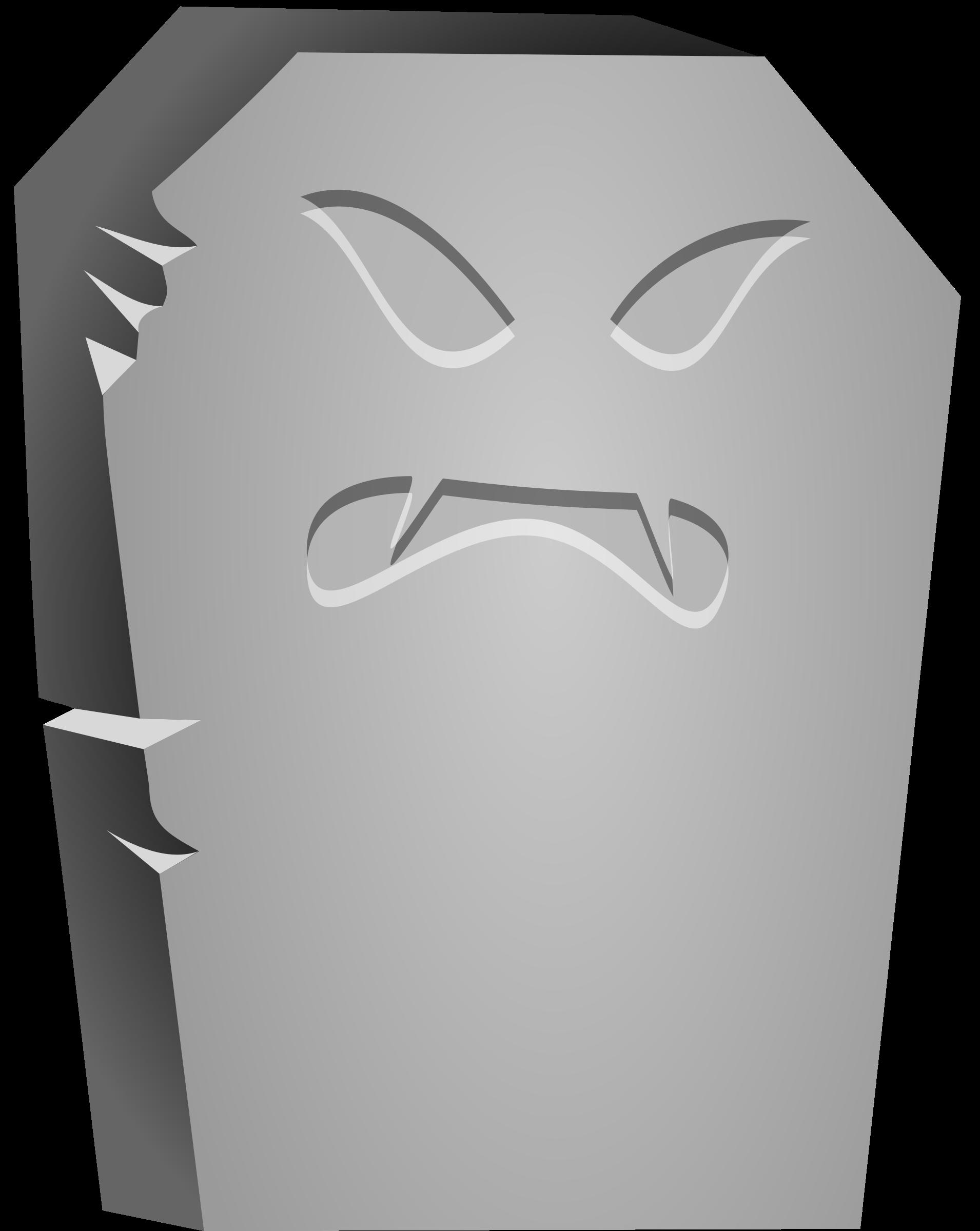 Clipart tombstone halloween image free stock Clipart - Halloween Tombstone Angry Face image free stock