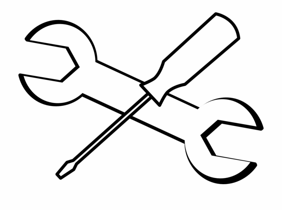 Tools clipart free black and white clip art transparent Wrench Screwdriver Tools Black Outline White Tool - Tools Black And ... clip art transparent