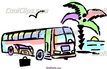 Stopped truck clipart