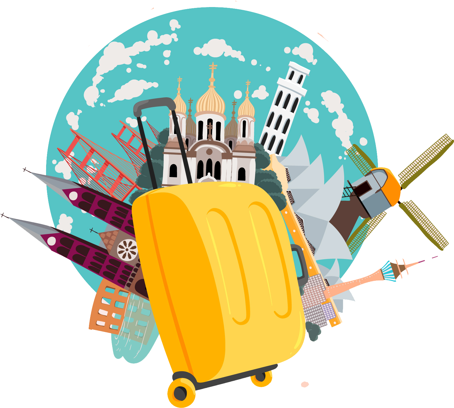 Clipart tour clipart library stock Tour Travel Png Vectors - Tours And Travels Png Clipart - Full Size ... clipart library stock