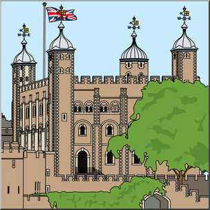 Clipart tower of london clipart library library Clip Art: Tower of London Color | abcteach clipart library library