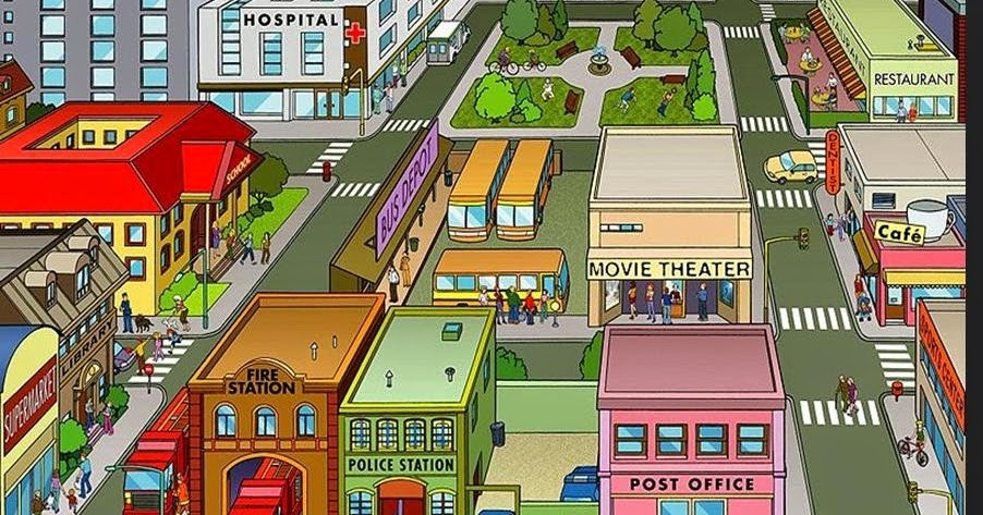 On the town clipart image download Places in town clipart 2 » Clipart Portal image download