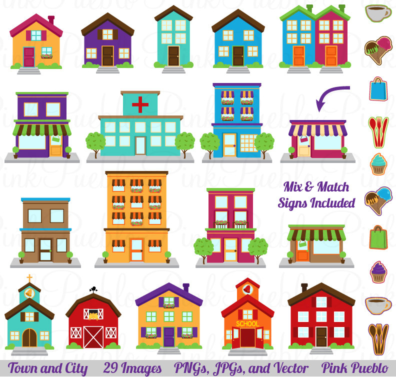 Town Map Clipart Village town | Clipart Panda - Free Clipart Images freeuse download