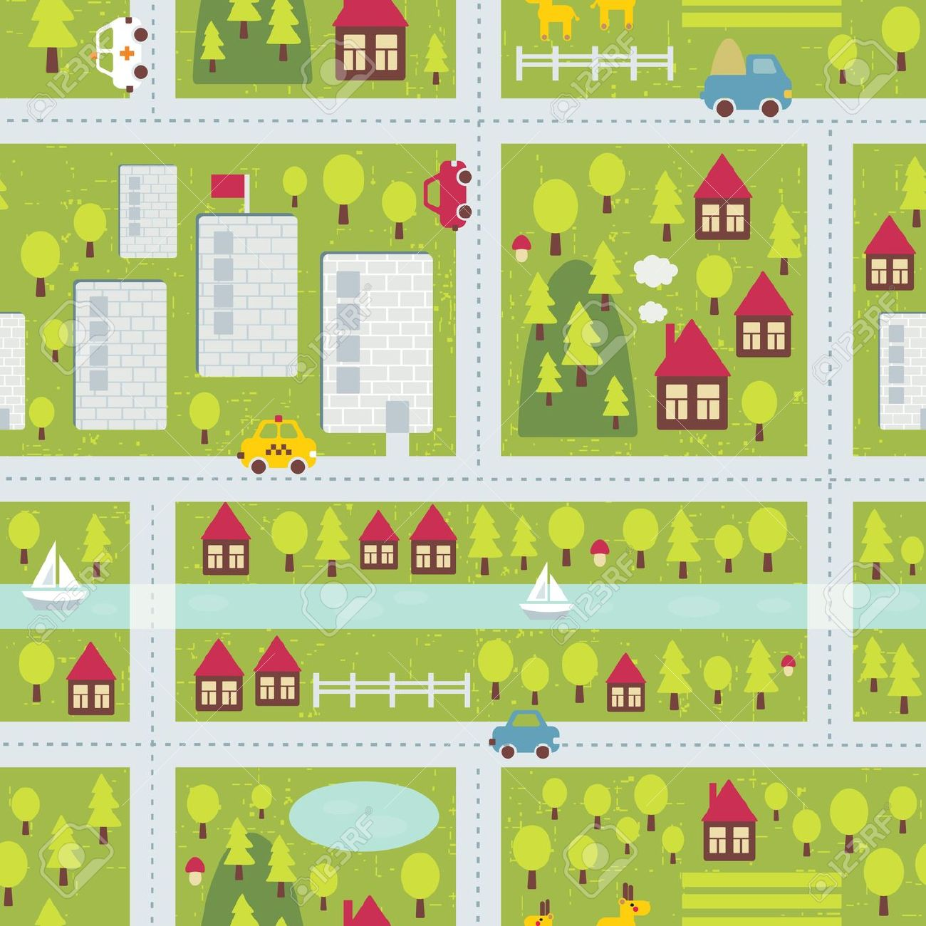 Townmap clipart picture stock Town map clipart image - Clip Art Library picture stock