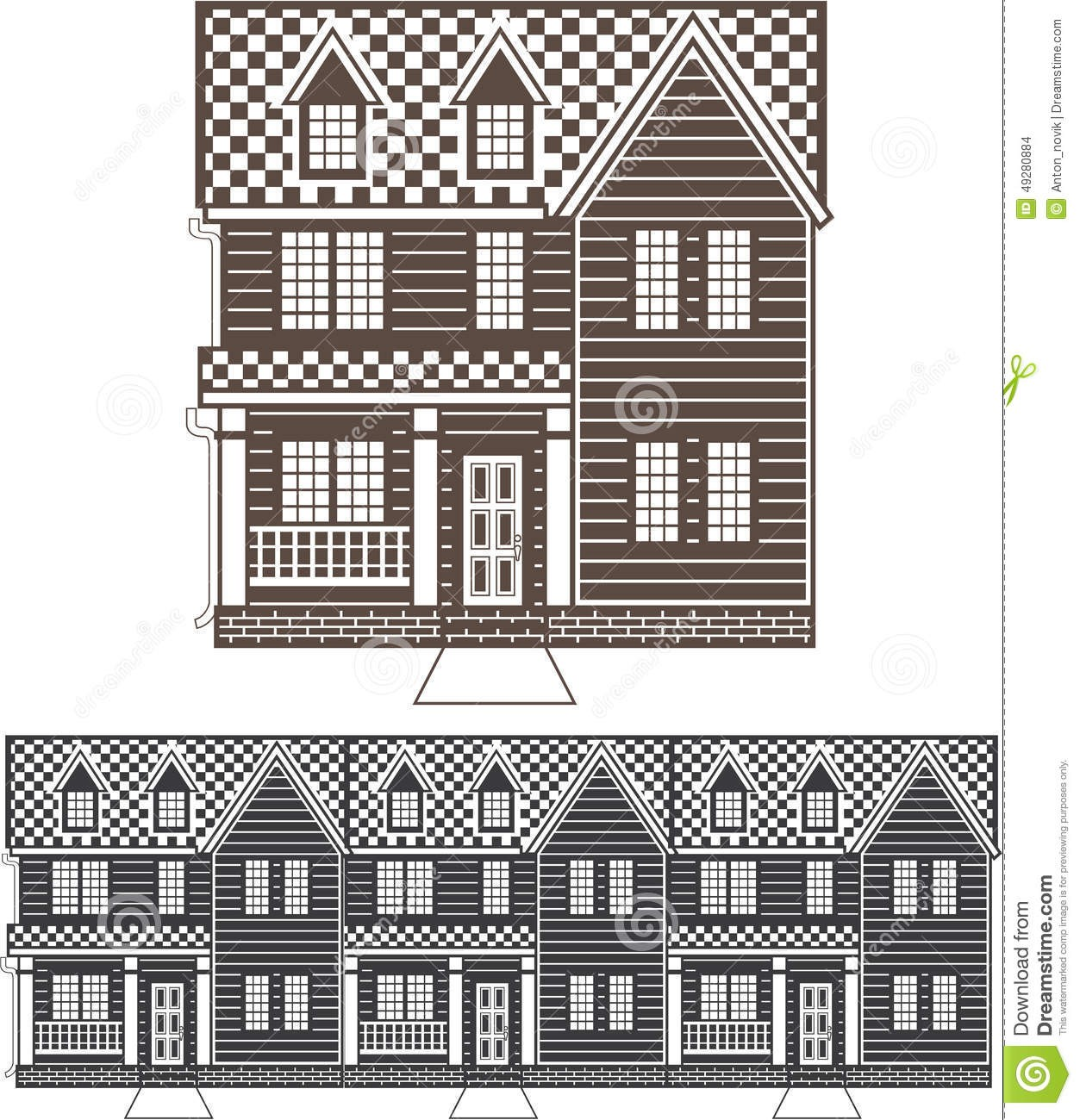 Clipart townhomes picture freeuse stock For Townhouse Clipart Row Townhomes Vector Illustration Clip Art Eps ... picture freeuse stock