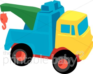 Crane Toy Truck Clipart | Baby Vehicle Clipart picture library stock