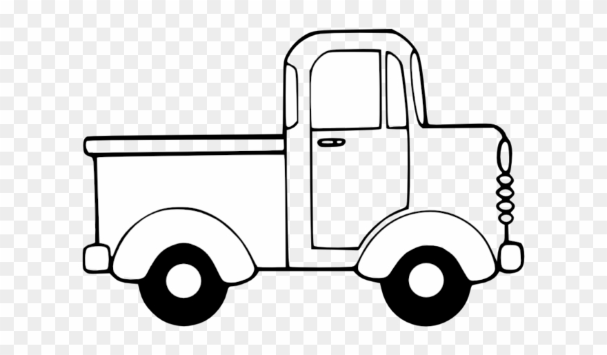 Truck Clip Art Black White Line Christmas Xmas Toy - Cartoon Car ... banner library library