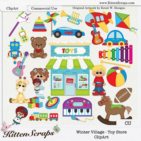 Tostore clipart clip art download Winter Village - Toy Store ClipArt {CU ... clip art download