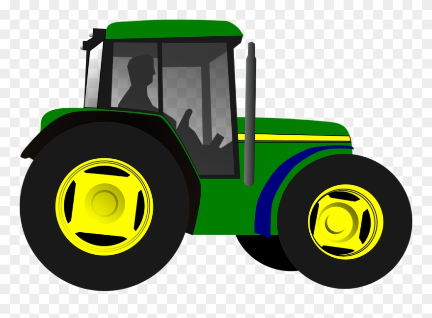 Clipart tractorr svg black and white library Simple Clipart Tractor - John Deere Tractor Clipart - Png Download ... svg black and white library
