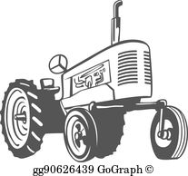 Clipart tractorr vector black and white Farm Tractor Clip Art - Royalty Free - GoGraph vector black and white