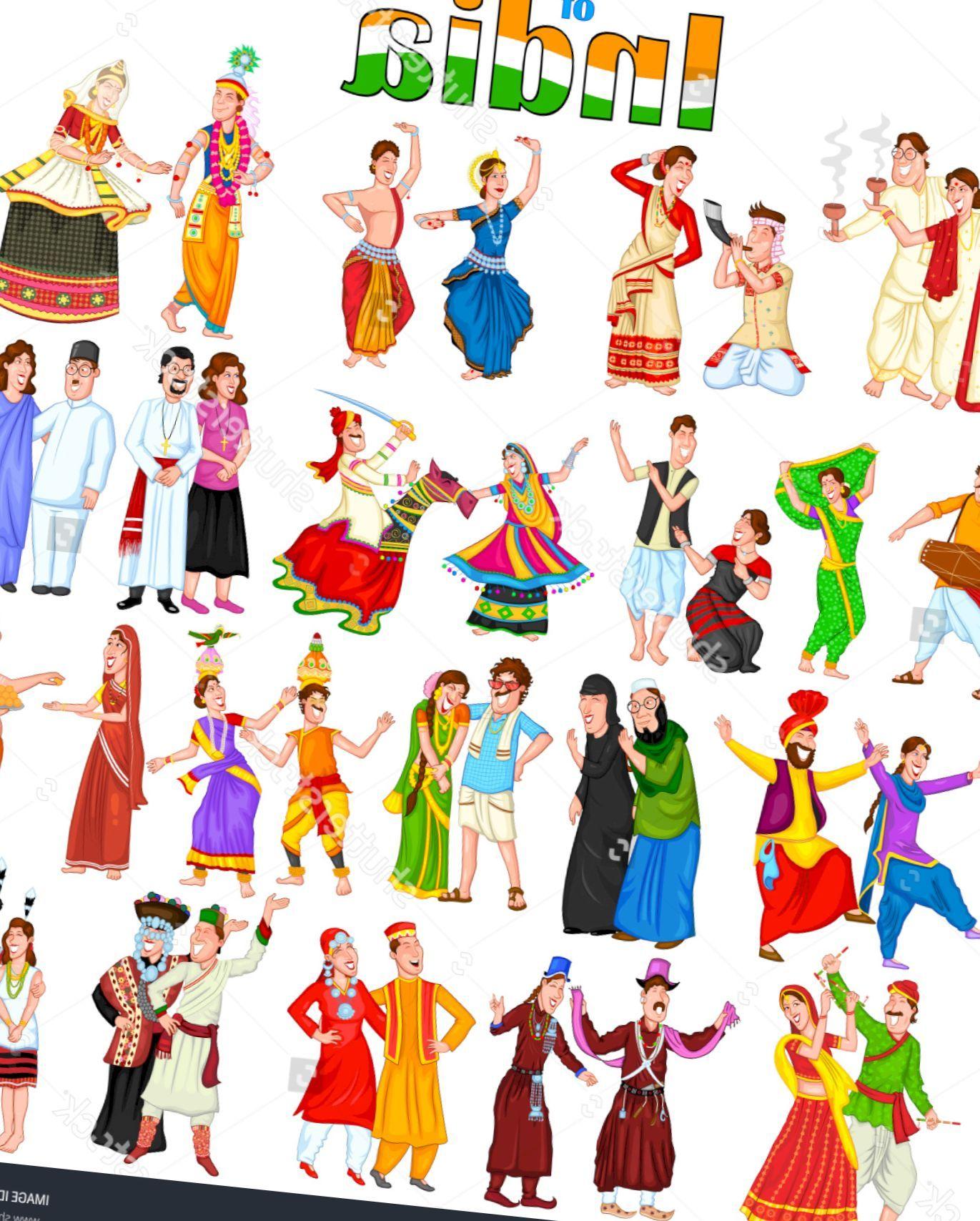 Clipart traditional dress svg transparent Traditional dress of indian states clipart 9 » Clipart Portal svg transparent