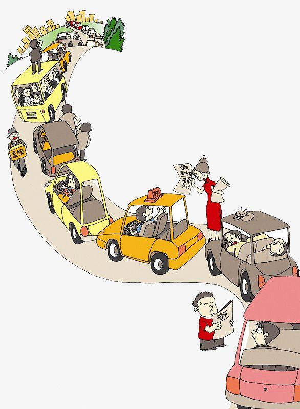 Clipart traffic jam royalty free City Traffic Traffic Jam Publicity Map, Map Clipart, Cartoon, Simple ... royalty free
