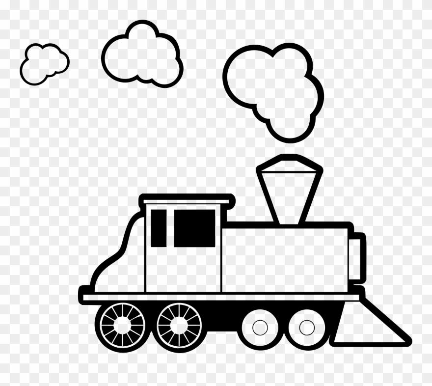 Train head on steam engine black and white clipart svg royalty free download Trendy Idea Train Clip Art Black And White Clipart - Steam Engine ... svg royalty free download