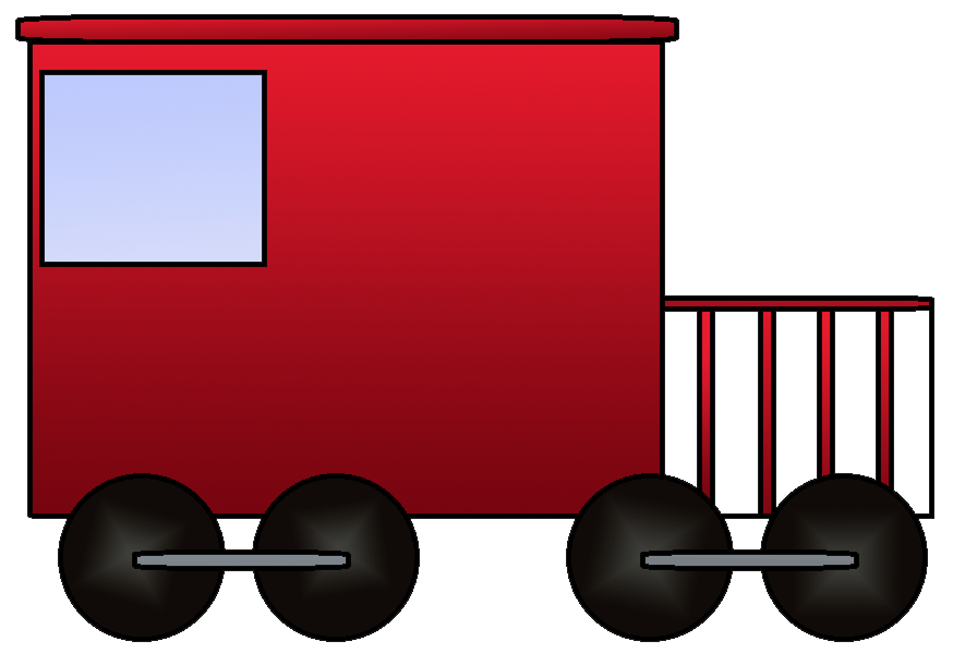 Train car clipart svg library Train Caboose Clipart svg library