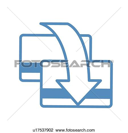 Clipart of transfer, icons, arrows, Arrow, money transfer, card ... graphic