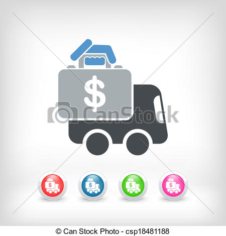 Clipart transfer icon image stock Vector of Money van transfer csp18481188 - Search Clip Art ... image stock