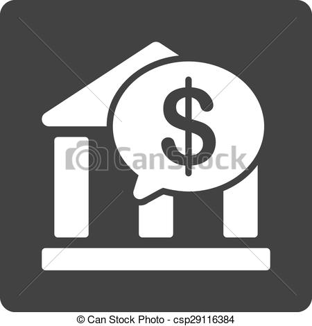 Vector of Bank Transfer icon. This flat rounded square button uses ... jpg black and white library