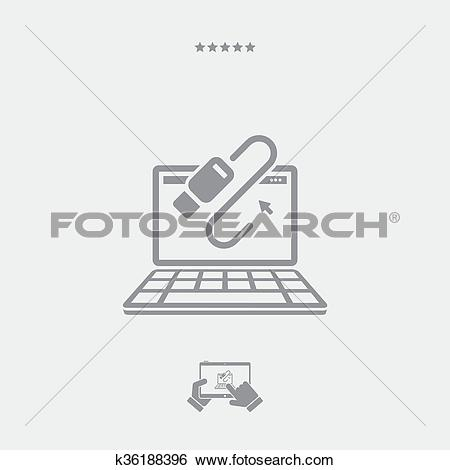 Clip Art of Data transfer icon k36188396 - Search Clipart ... picture download