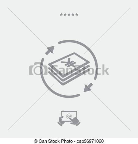 Clip Art Vector of Money transfer icon - Yen csp36971060 - Search ... clip library