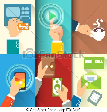 Clipart transfer icon clip art black and white EPS Vector of Business hands in action, pay, buy, transfer money ... clip art black and white
