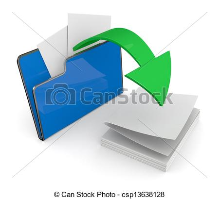 Clip Art of folder icon, data transfer - one computer folder with ... picture black and white library