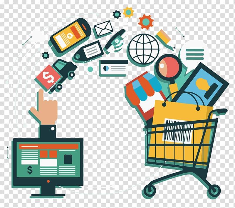 Omnichannel clipart banner freeuse download E-commerce Omnichannel Online shopping Sales Retail, online shop ... banner freeuse download