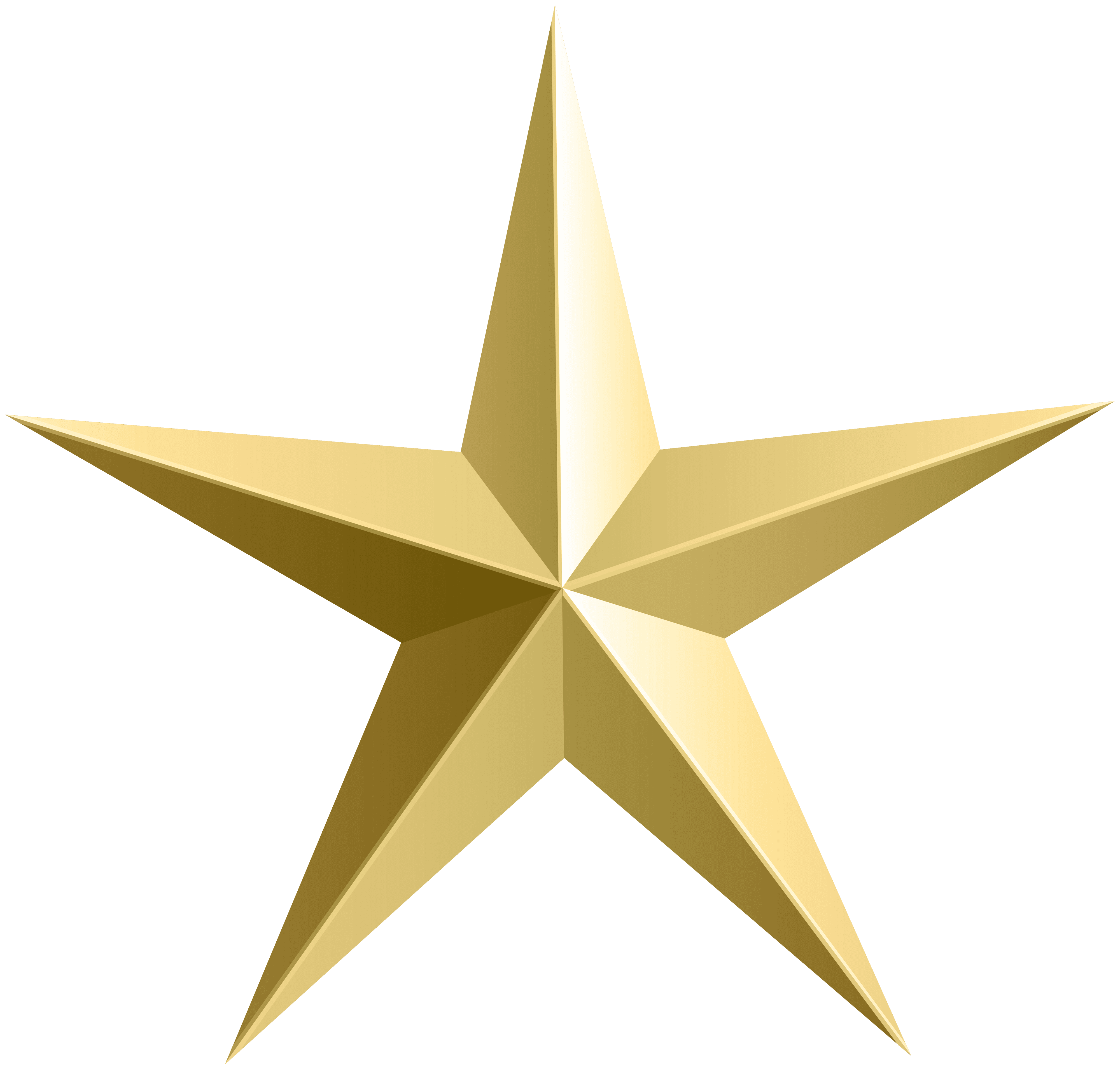Transparent black and gold star clipart
