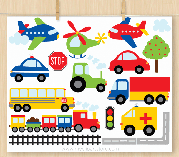 Transportation Clipart Combo clipart free download