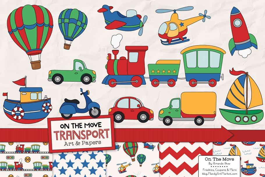 Clipart transportation clip art Transportation Clipart & Patterns clip art