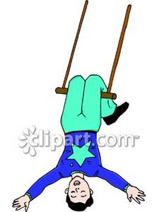 Clipart trapeze clipart royalty free stock Trapeze Artist Doing a Trick - Royalty Free Clipart Picture clipart royalty free stock