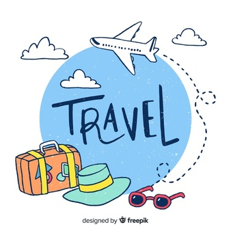Clipart travelling image black and white stock Travel Vectors, Photos and PSD files | Free Download image black and white stock