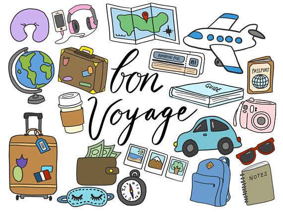 TRAVEL CLIPART, clip art, travel, cute, doodles, vector clipart ... png free stock