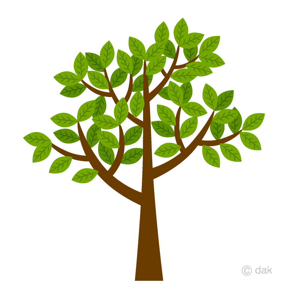 Cliparttree image stock Tree with leaves Clipart Free Picture|Illustoon image stock