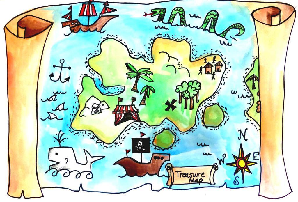 Clipart treasure map clip art royalty free download Treasure Map Clipart And Pencil Color In - Clipart1001 - Free Cliparts clip art royalty free download