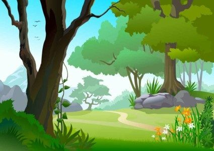 Clipart tree background clip free green landscape trees background | vector | Landscape background ... clip free