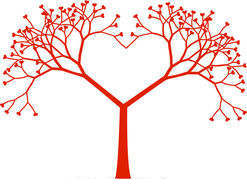 Clipart tree heart jpg royalty free library Heart Shaped Tree Clipart Leaves Eps Vector - Clipart1001 - Free ... jpg royalty free library